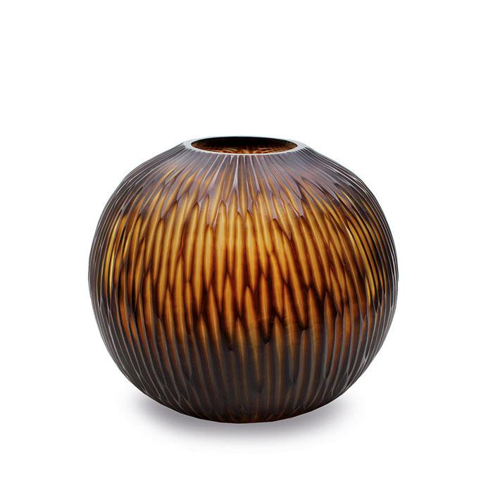 Gobi-vase-butter-brown-round-design-30x35cm-586191