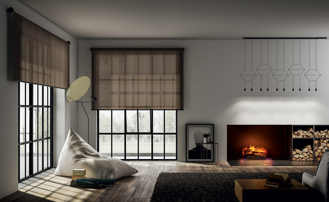 Brown-sheer-contemporary blind