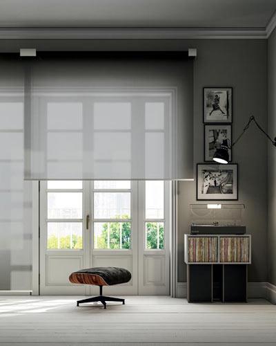 Designer manual or motorised blinds for large windows