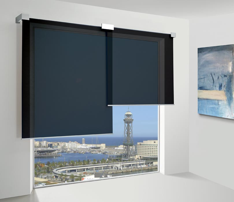 Overlapping-roller-blinds-large-windows