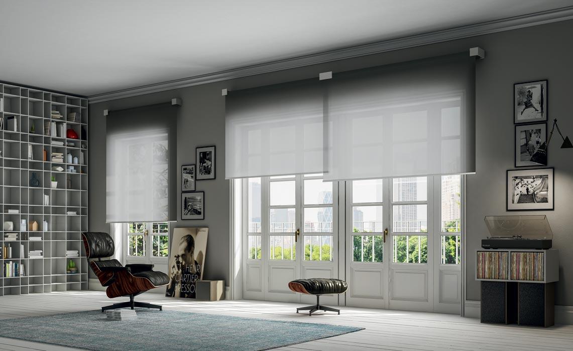 French doors designer blinds