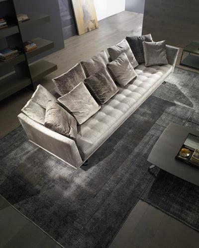 Stunning designer velvet grey sofa